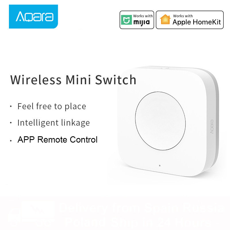 Aqara Smart Wifi interrupteur sans fil Application intelligente une clé télécommande ZigBee interrupteur de lumière lampe Mi maison passerelle 3