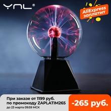 Lighting Decor Touch-Lamp Plasma-Ball Crystal Led-Night-Light Gift Christmas Birthday