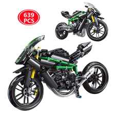 City High-Tech H2R Motorcycle Model Assembly Building Blocks Creativity MOC Motorbike Bricks Toys For Children Christmas Gifts
