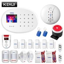 KERUI W20 WIFI GSM ev güvenlik Alarm sistemi akıllı ev RFID kart APP kontrol hareket dedektörü hırsız alarmı gaz dedektörü
