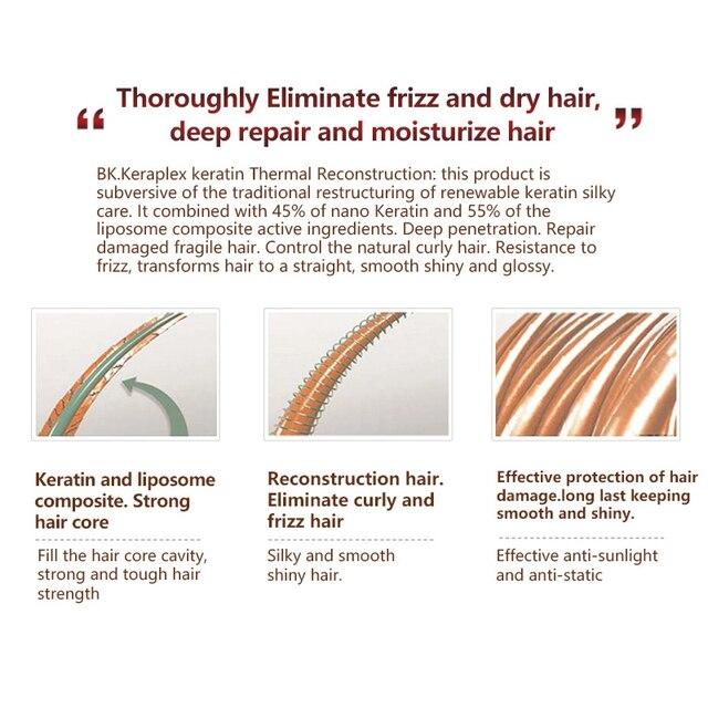استقامة إصلاح الشعر الضرر منتجات الشعر بروتين شعر كيراتين برازيلي العلاج + تنقية الشامبو مجموعة العناية بالشعر 4