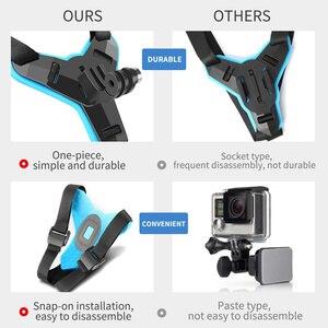 Image 3 - Full Faceคางหมวกกันน็อกสำหรับGoPro Hero 8 6 5 SJCAMรถจักรยานยนต์คางหมวกกันน็อกขาตั้งอุปกรณ์เสริมสำหรับกล้องgoPro Hero 8