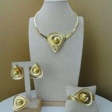 Yumingai ensemble de bijoux de styliste italien en or dubaï, ensemble de bijoux fins, FHK9072