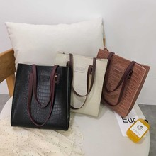 Fashion Crocodile Pattern Handbag Women Casual Bags Luxury Leather Shoulder bag сумка мужская#101P