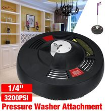 High Pressure Washer Accessories Disc Flat Surface Cleaner Washer Attachment Round with Rotating Jets to a Driveway