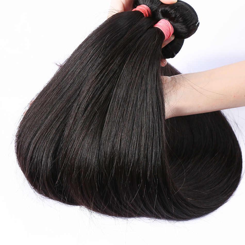 Linksbeauty 8 tot 28 30 40 Inch Natuurlijke Kleur Peruaanse Haar Weave 1 3 4 Bundels Rechte 100% Remy Human hair Extensions Inslag