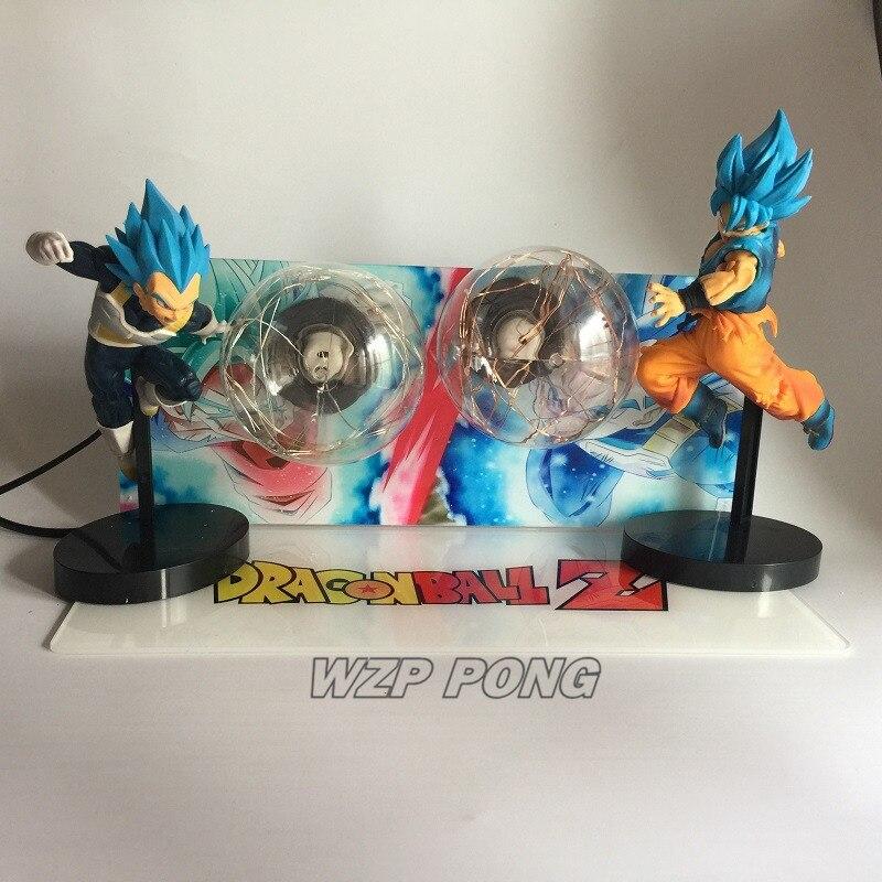 21 см Dragon Ball Son Goku vs Vegeta светодиодное украшение фигурка куклы игрушки ПВХ фигурка Коллекция Модель игрушки подарок - 3