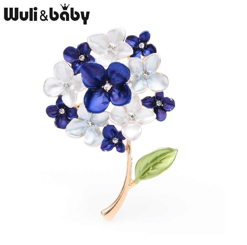 Wuli Bayi Ungu Merah Biru Ungu Bunga Bros Wanita Pesta Pernikahan Bros Pin Hadiah