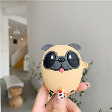 3D Cute Case For Airpods 1 2 Cases Cartoon Pug Dog For Airpod Case Cover Silicone For Earpo