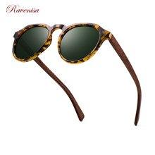 Ravnisa Wooden Polarized Sunglasses Tortoiseshell Gray Mirror Lens Vintage Sun Glasse For Women Men 2020 New Wood Style
