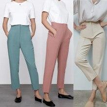 Za Pants 2021 spring new casual chic women pantss fashion high-waist pantss commuter office street women pants