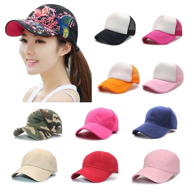 Fashion Casual Baseball Cap Unisex Caps Snapback Cap Hat Adjustable for Women Men Nylon Fastener Tape Sports Hip Hop Mesh Hats-in Men's Baseball Caps from Apparel Accessories