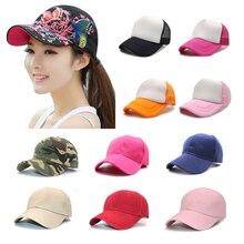 Fashion Casual Baseball Cap Unisex Caps Snapback Cap Hat Adjustable for Women Men Nylon Fastener Tape Sports Hip Hop Mesh Hats