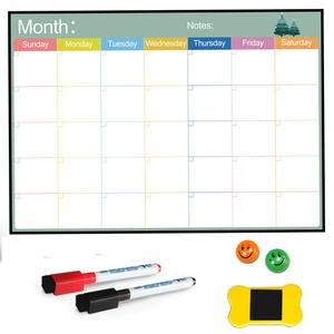 Calendar Magnetic-Board Refrigerator Dry-Erase Weekly-Planer Kitchen Home-Fridge Monthly