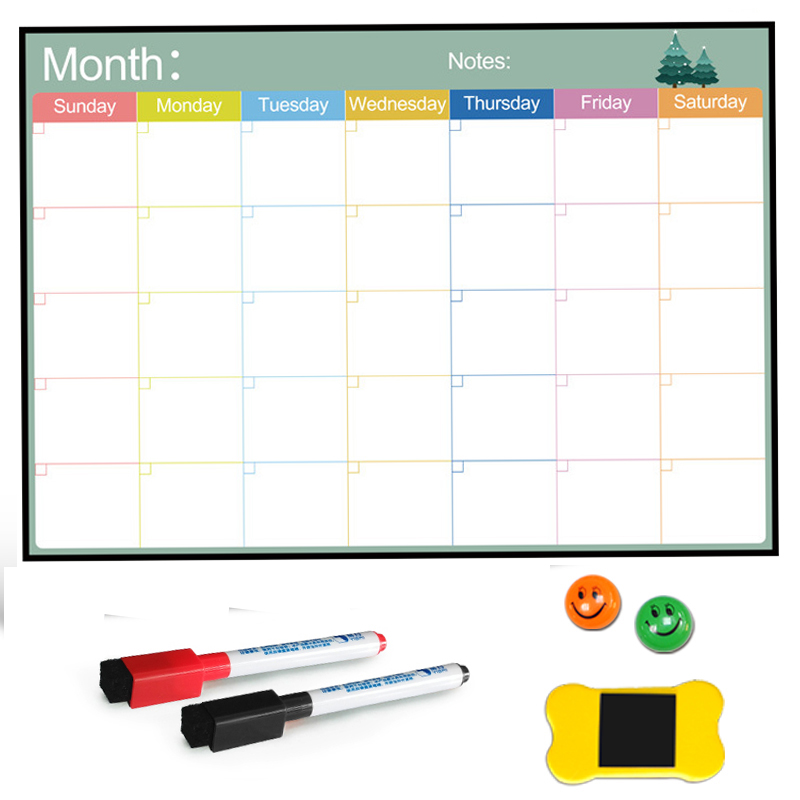 A3 Size Magnetic Board Monthly Calendar,Dry Erase Magnetic Whiteboard Drawing For Kitchen Home Fridge Refrigerator Weekly Planer