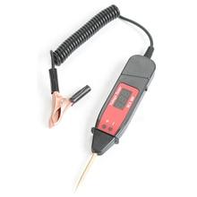 Probador de sonda de Pluma de Prueba de Voltaje eléctrica LCD para coche, Digital, con luz LED, DC 3 36V, herramienta de prueba