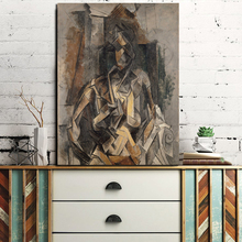 Woman Seated In An Armchair By Picasso Canvas Painting Print Living Room Home Decor Modern Wall Art Oil Painting Poster Artwork woman seated in an armchair by picasso canvas painting print living room home decor modern wall art oil painting poster artwork