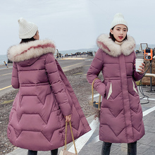 New 2019 High Quality Winter Jacket Women Plus Size Winter Coat Hooded Warm Fur Collar Cotton Padded Long Parkas For Women Sz39