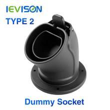 Ebene 2 Stecker Wasserdicht EV Ladegerät Kabel Holster für Type2 EVSE IEC 62196-2 Station Stecker Halter AC Dummy buchse