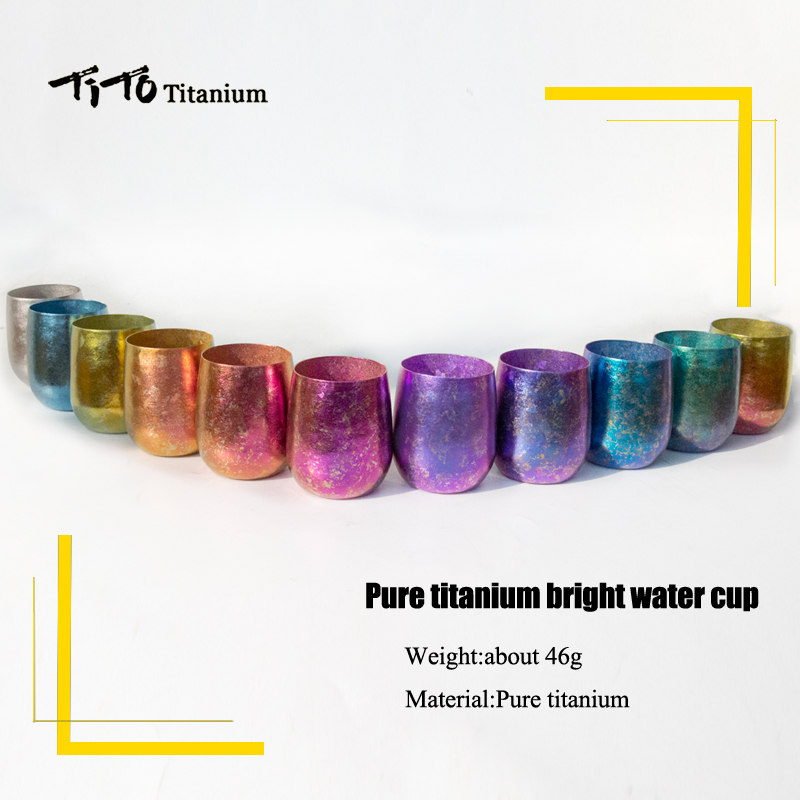TiTo Titanium Bright Colorful Double Layer Cup Water Tea Wine Beer Fruit Juice Anti-scalding Teacup Mug For Home Outdoor Caming