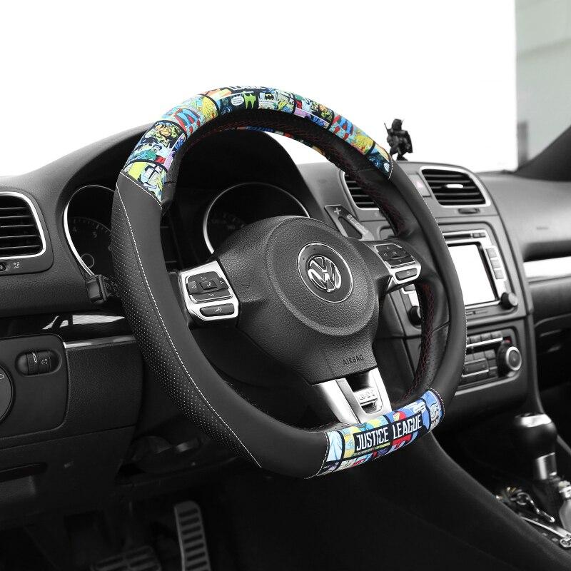 volante dos desenhos animados anti deslizamento auto volante capa acessorios carro 03