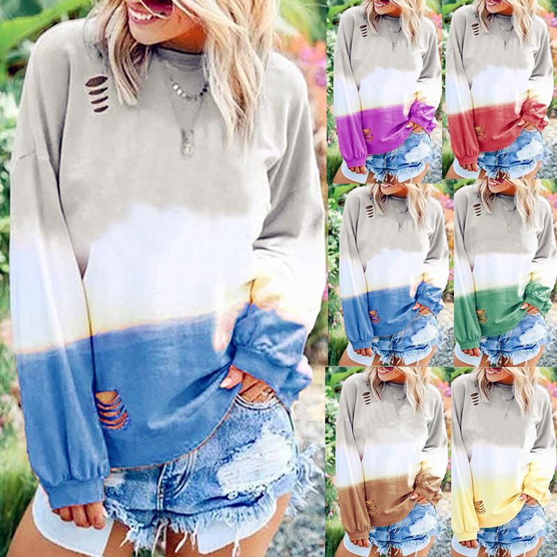 Women Spring Winter Fashion Sweatshirt Femme Shirt Full Long Sexy Sleeve Casual Boho Befree Cap Printed Pullover Plus Sizes