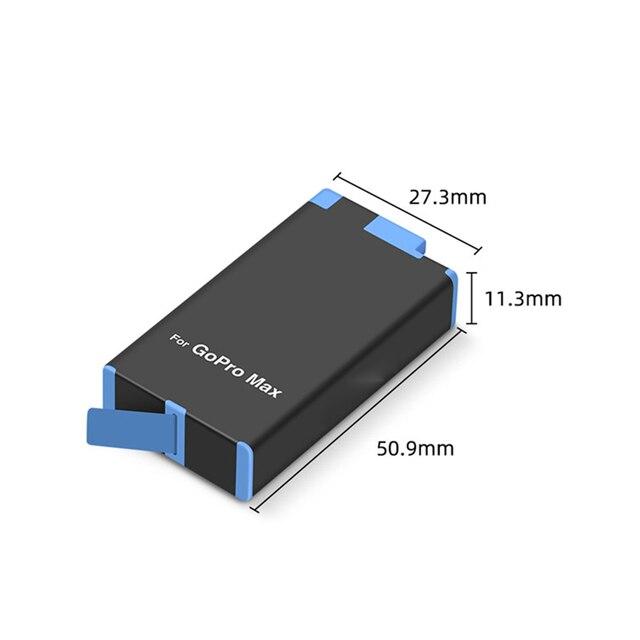 GoPro MAX 카메라 교체 용 배터리 GoPro MAX 파노라마 액션 카메라 액세서리 용 듀얼 슬롯 배터리 충전기