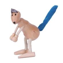 3D деревянные милые строительные блоки в виде животных, декоративная кукла, маленькая модель животного, Детская обучающая игрушка, статуя животного, Kan