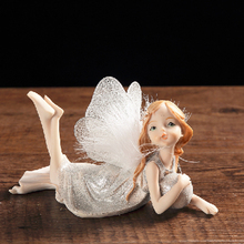 Flower Fairy Beauty Angel Ornament Resin Wedding Gift Home Decoration Accessories Miniature Figurines Fairy Garden Miniatures