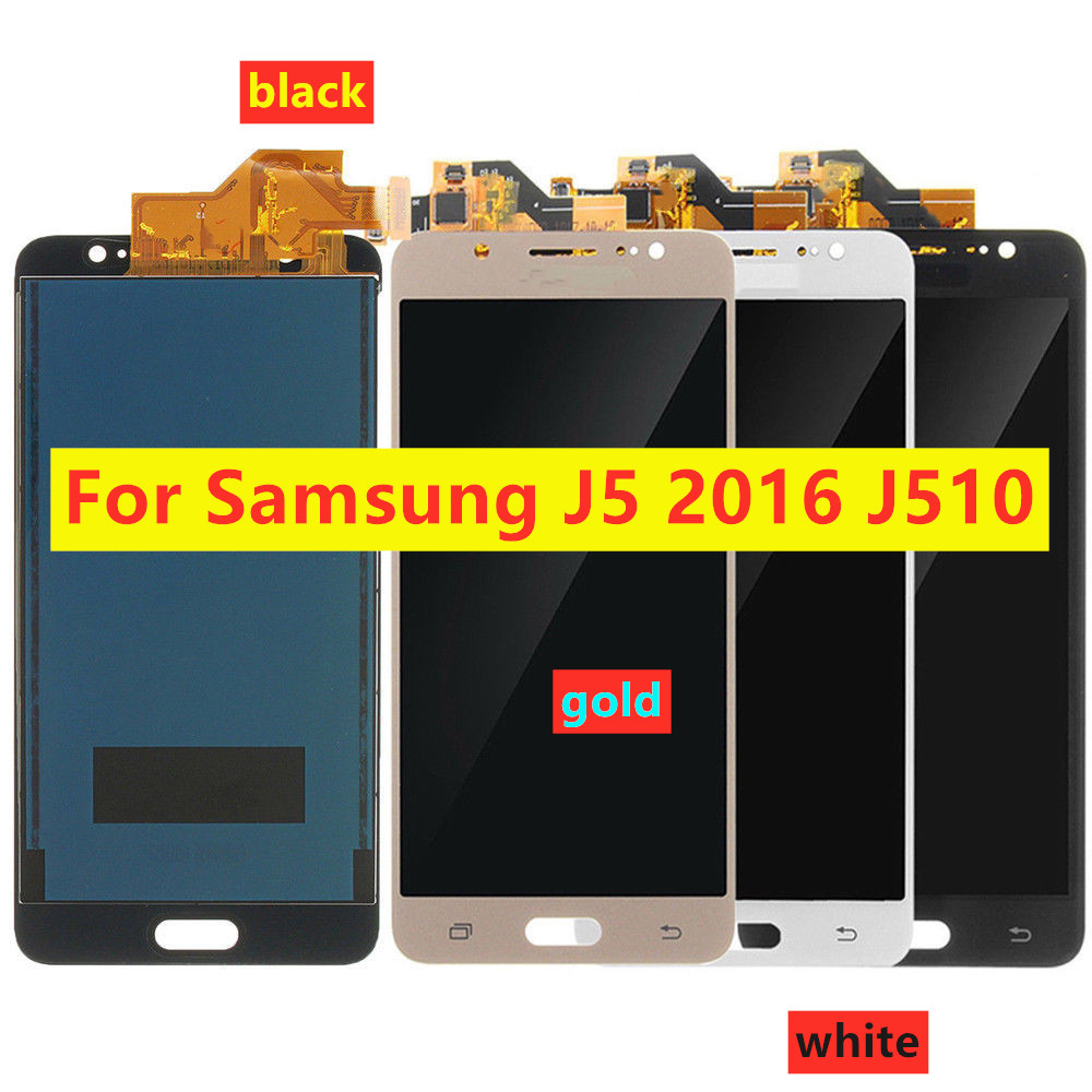 High Quality J510 LCD Touch Screen For Samsung Galaxy J5 2016 <font><b>J510FN</b></font> J510F J510G J510Y J510 LCD <font><b>Display</b></font> Can Brightness Control image