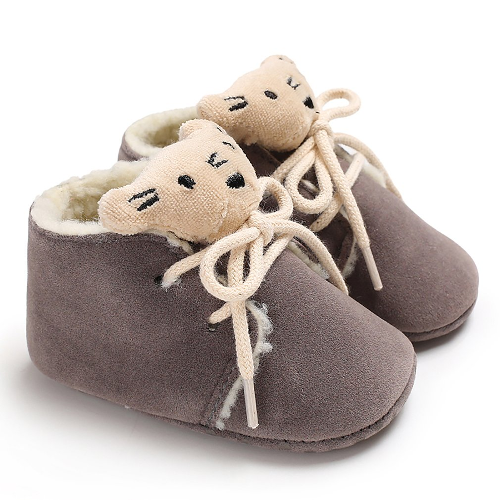 Newborn Baby Boy Girl Moccasins Shoes Cute Cartoon Tiger Style Warm Winter Shoes PU Leather Baby First Walkers Non-slip Shoes