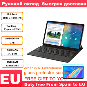 Image 1 - Teclast M16 планшет 11,6 дюймов 4G Phablet MT6797 ( X27 ) Android 8,0 1920*1080 2,6 GHz Decore CPU 4GB 128GB 8.0MP + 2.0MP двойная камера