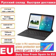 Teclast M16 Tablet 11.6 אינץ 4G Phablet MT6797 (X27) אנדרואיד 8.0 1920*1080 2.6GHz Decore מעבד 4GB 128GB 8.0MP + 2.0MP כפולה מצלמה