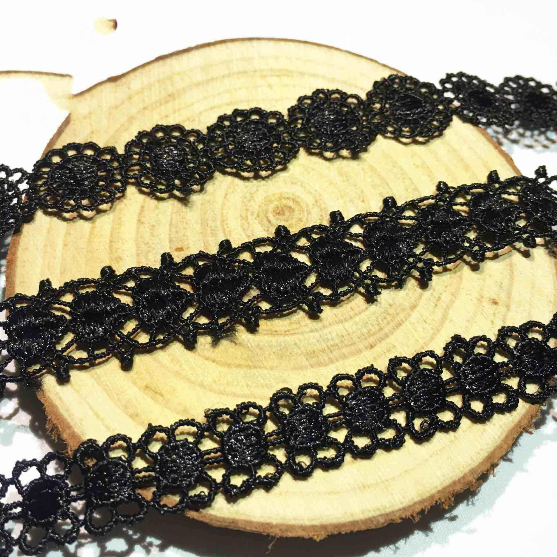 1.5cm taśma koronkowa dwustronne rękodzieło haftowane koronki netto wykończenia dla DIY szycia ręcznie materiały rzemieślnicze dekoracji