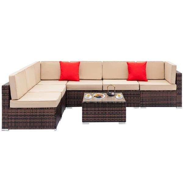 Rattan Sofa Set with Coffee Table 2