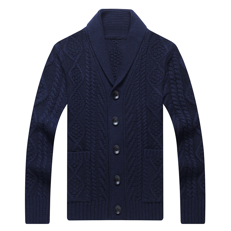 NAMTHEUN 2020 Autumn Men V Neck Knitted Sweater Coat Button Up Loose Cardigan Warm Quality Wool Male Sweater for Winter свитер