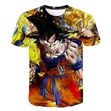2021 Summer Fashion New Super Dragon Ball 3D Printing Harajuku T shirt Graphic Cartoon Short Sleeve Trend Casual T-shirt Clothes