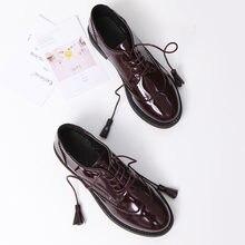 Женские туфли оксфорды на платформе повседневные черные плоской