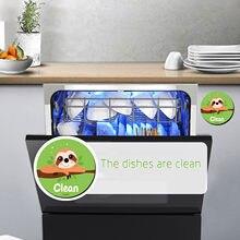 25 # leistungsstarke Küche Flip Magnet Spülmaschine Anzeige Klebstoff Magnetische Blatt Nette Cartoon Lustige Spülmaschine Magnet Doppelseitig