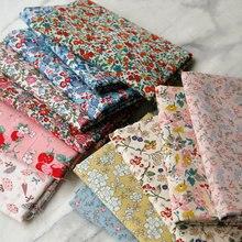 145x50cm nova pastoral floral algodão popelina tecido diy roupa de crianças pano fazer cama quilt decoração para casa 160-180 g/m