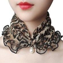 Поддельный жемчуг кулон шарф для женщин золото нить кружево разнообразие леди шея волосы шифон шарфы новинка мода украшения аксессуары подарок