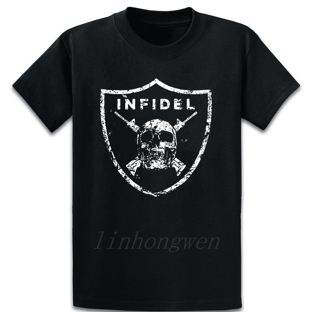 Infidel Grunt Style Usa Men's Free Shipping Patrio T Shirt Round Collar New Fashion Custom Trend Male Tee Shirt