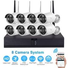 720P/1080P Wireless Surveillance Security System 8CH CCTV NVR Kit Outdoor IR Night Vision Camera EU Plug/UK Plug/US Plug/AU Plug