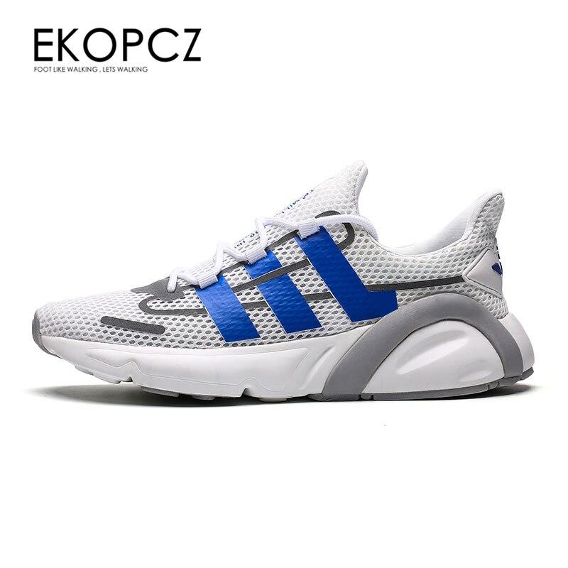 EKOPCZ 2019 New Shoes Men Brand Breathable Lace Up Casual Shoes Men White Mens Trainers Designer Zapatillas Hombre Buty Meskie