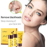 LAMILEE Propolis Blackhead Remove Three Sets Nose Mask Face Mask Black Head Remove T-Zone Cares Contractile Pore Essence Liquid