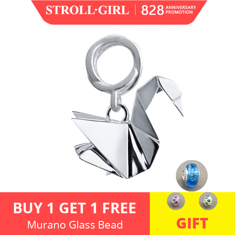 Strollgirl Beads Fit Bracelet Charms Pendants Origami 925-Sterling-Silver Jewelry Authentic