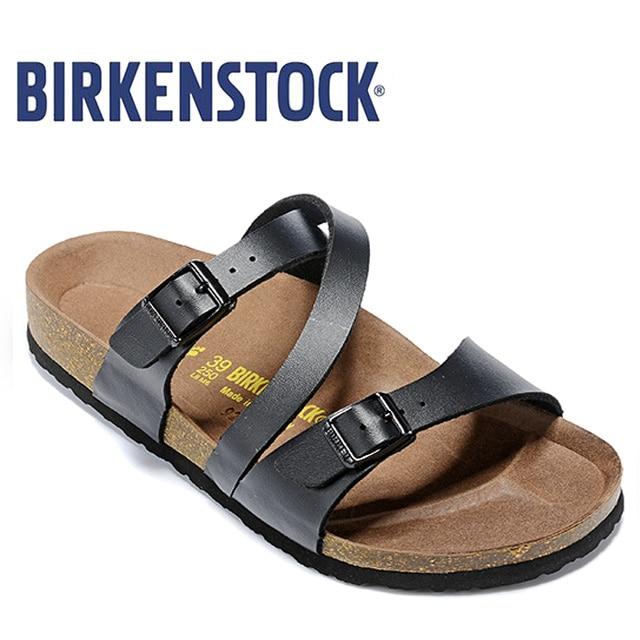 NEW BIRKENSTOCK Salina Women Flip Slippers Women  BIRKENSTOCK 850 Women Flip Flop Beach Slippers Woman Sandals 2019 Summer