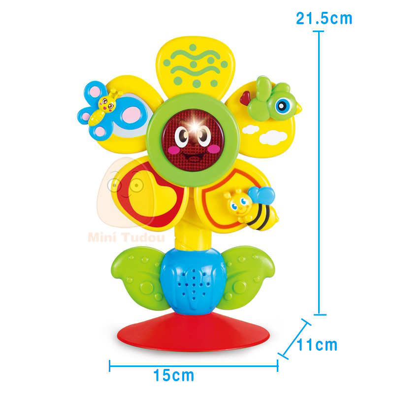 Rotating Ferris Wheel Table Tricolor Suckers Toy 0-12 Months Newborns Early Creative Educational Baby Rattle Toys