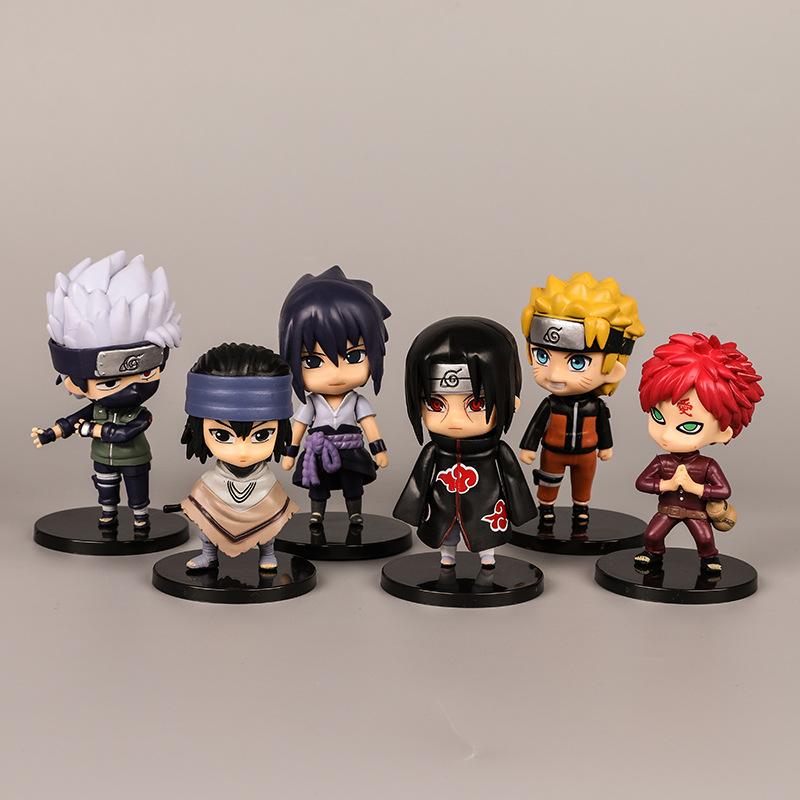 1pcs10cm Anime Naruto Figure Toy Sasuke Kakashi Sakura Gaara Itachi Obito Madara Killer Bee Mini Model Doll For Children