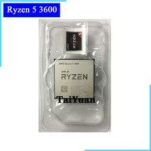 AMD Ryzen 5 3600 3600 GHz, Six cœurs à douze fils 3.6 7NM, 65W L3 = 32M, prise processeur dunité centrale 100 AM4, nouveauté, sans ventilateur